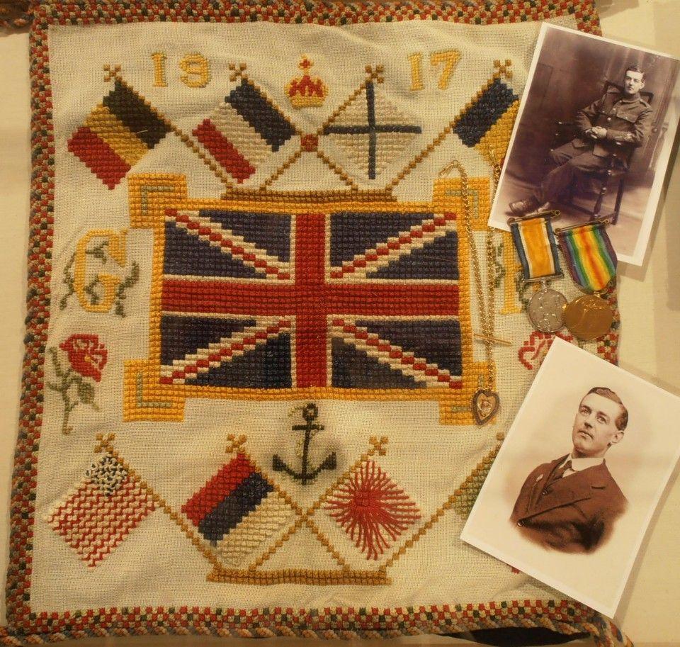 Embroidered sampler by John Robert Ratcliffe