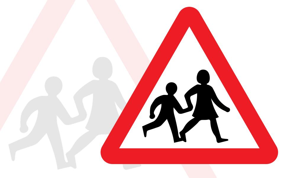 School transport sign